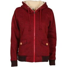 Billabong Winter Cloud Warmer Womens Hoody Zip - Black Cherry Heather All Sizes
