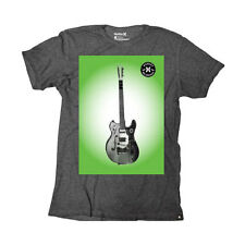 Hurley Guitar Poster Mens T-shirt - Heather Black All Sizes