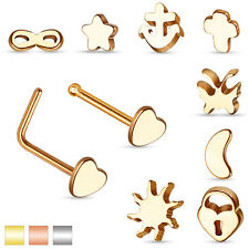 Nose Piercing Surgical Steel Bent Nose Studs Stud Stud Piercing Jewelry