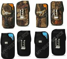 Fitted Cover Holster Metal Belt Clip Large Cell Phone Fits Aluminum Gorilla Case