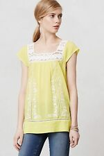New Anthropologie Aureolin Tunic Blouse Top Moulinette Soeurs Size 2