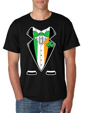 Saint Patricks Day Men's Tee Shirt Irish Suite Irish Shamrock Shirt Cool Gift