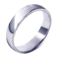 Simple Womens Unisex White Gold Filled Band Promise Love Band Ring Size 7-10