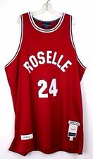 Roselle # 24 Rick Barry Red/White Vintage Throwback Mens Basketball Jersey