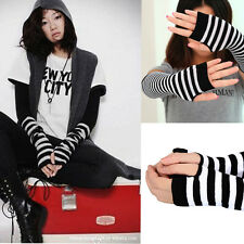 Fashion Warm Winter Wrist Arm Hand Warmer Knitted Long Fingerless Gloves Mitten