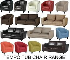 Tub Chair Sofa in Faux Leather or Fabric Couch Settee Office Seating Reception