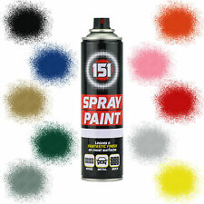 151 Car Spray Paint Aerosol Auto Primer Matt Gloss Metallic Clear Lacquer 300ml