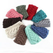 Flower Crochet Knit Knitted Headwrap Headband Ear Warmer Hair Muffs Band New ZT