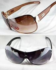 Women DG Eyewear Fashion Sunglasses Rimless Aviator Sports Wrap Gradient Lens