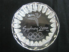 WATERFORD CRYSTAL SYDNEY 2OOO OLYMPICS COMMEMORATIVE PAPERWEIGHT