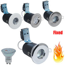 Fixed Fire Rated /IP65 Bathroom/LED GU10 Recessed Ceiling Spotlight+5W SMD Bulb