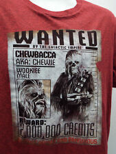 CHEWBACCA WANTED POSTER T-SHIRT MEN'S (M) STAR WARS HEATHER 7301