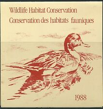 CANADA B.O.B. FEDERAL WILDLIFE HABITAT CONSERVATION #FWH4 MINT DUCK STAMP (B)