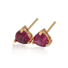 Sweet Love 18K Yellow Gold Plated Colorful Cubic Zirconia Stud Earrings