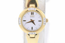 Ladies Citizen Eco-Drive Gold-Tone Stainless Steel Diamond Accented Watch