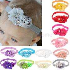 Baby Girls Hairband Lace Pearl Flower Headband Elastic Headwear Hair Accessories