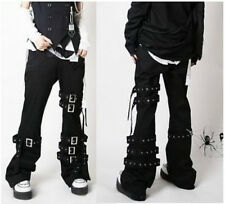 #016 Unisex Visual Punk ROCK Goth Cosplay Pants Trousers BLK