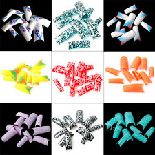 70x Acrylic Artificial French False Nail Art Tips Decoration Manicure UV Gel 01