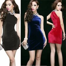 Fashion Womens Halterneck Sexy Bodycon Cocktail Party Clubwear Casual Mini Dress