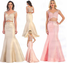 Cinderella Midriff Sexy Ball Gown Long Prom Cocktail Dresses Evening Party 4~10
