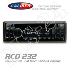 Caliber RCD232 Autoradio 1-DIN Radio CD USB SD AUX-IN AM/FM MP3 Tuner blau/weiß