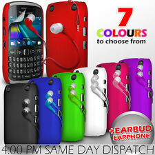 HARD BACK PROTECTIVE CASE COVER, EARPHONE & FILM FOR BLACKBERRY CURVE 9320