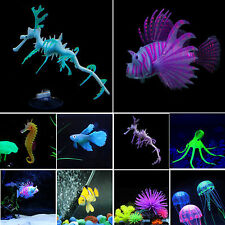New Artificial Glow Sea Dragon Seahorse Jellyfish Aquariums Fish Tank Decoration