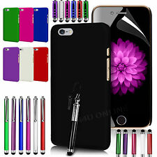HARD BACK SKIN CASE COVER, LCD FILM & 3 STYLUS PEN SET FOR APPLE IPHONE 6