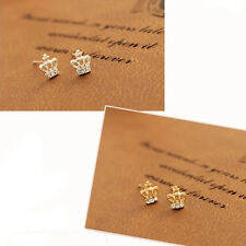 3 Pairs/6pcs Crown Earrings With Crystal Stud Earrings Xmas Gift Party NEW
