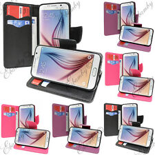 Galaxy S6 Wallet Card Holder PU Leather Case TPU Case + FREE 2 Screen Protector