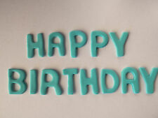 Happy Birthday Letters EDIBLE CAKE TOPPERS Edible Party Cupcake Decorations