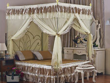 Leopard 4 Corners Post Bedding Curtain Canopy Mosquito Net Or Frame(Post)