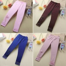 Baby Kids Girls Lace Flowers Stretchy Leggings Trousers Toddler Warm Tight Pants