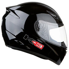 AGV K3 FULL FACE MOTORBIKE MOTORCYCLE ACU GOLD HELMET GLOSS BLACK