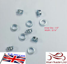 """Bore 1/2"""" X  5/16"""" Width  ROD END SPACERS FOR RACE AND RALLY CARS"""