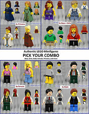 LEGO - Minifigure Combo Lots - Male Female Boy Girl People Kids Dress Torso Legs