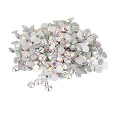 1400pcs Glass Crystal Round Flat Back Rhinestones Gems Acrylic DIY Makimg Craft