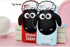 Cartoon Kawaii Sheep 4 Corlors Silicone Protective Case For iPhone5s/6/6s/6P/6sP