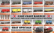 BRAND NEW G SCALE 45mm GAUGE RAILWAY LOCO, CARRIAGE, ROLLING STOCK COACH TRAIN
