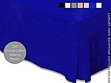 """""""Luxury 100% Egyption Cotton Valance Sheets 200 Thread Count Box All Sizes"""""""