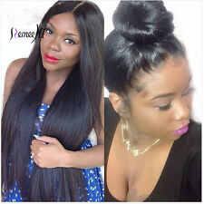 2016 New Hot Silky Straight 100% Indian Remy Human Hair Wigs Full/Front lace wig