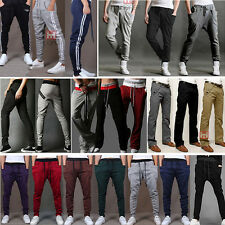 Men's Casual Sport Sweat Pants Harem Skinny Bottoms Cotton Long Trousers Slacks