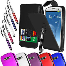 Pu Leather Flip Case Cover Film & Retractable Pen for Samsung I9300 Galaxy S3