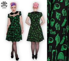HELL BUNNY Anatomy ~ Psychobilly Wednesday Horror Mini Dress ~ Gothic Punk Rock