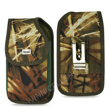 REIKO Camouflage Canvas Rugged Vertical Belt Clip Case for Sprint Cell Phones