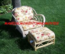 REPLACEMENT CUSHIONS FOR DEEP SEATING RATTAN CHAIR AND OTTOMAN*CUSHIONS ONLY*NIB
