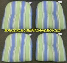 SET/4 REPLACEMENT CUSHIONS FOR INDOOR OUTDOOR RESIN WICKER DINETTE DINING CHAIRS