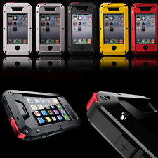 Water/Shock/Dust Proof Gorilla Glass Aluminum Metal Case Cover For Apple iPhone