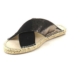 C LABEL Women's Criss Cross Slip on Espadrilles Flats CIDER-1 BLACK/GOLD ORANGE