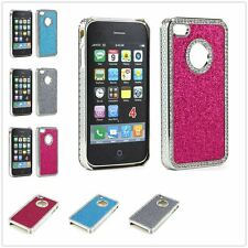 Bling Chrome Studded Diamond Glitter Hard Back Cover Back For iPhone 4 4S